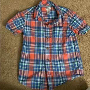 Short Sleeve Plaid Button Down